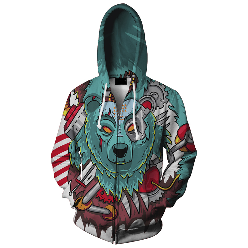 2017 men/women funny 3d hoodies 2017 Men/Women wolf lovers Hoodies HTB1iC0