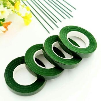 30 Yard 12MM Floral Stem Tape Corsages Buttonhole Artificial Flower Stamen Wrap Florist Green Tapes Nylon Supplies