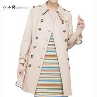 Small Su 2017 Real Sheepskin Long Coats Women S Shearling Beige Genuine Leather Trench Lambskin Jacket