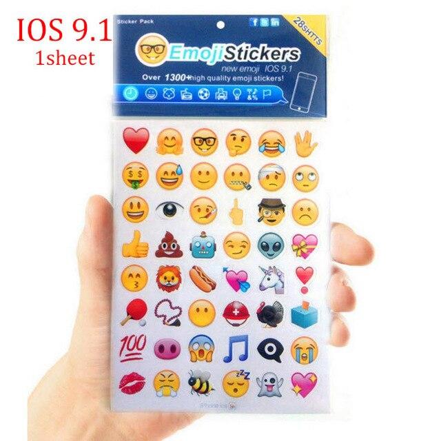 0 37 Nouveau Mignon 1 Feuilles Ios 9 1 1 Feuilles Amusant Sourire 48 Emoji Autocollants Apple Iphone Mise A Niveau Autocollant Pour Portable