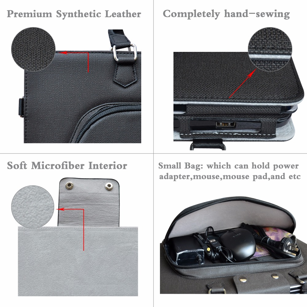 Accurately Designed Protective PU Leather Cover + Portable Carrying Bag For 17.3 Dell Inspiron 17 5000 Series i5770 Laptop