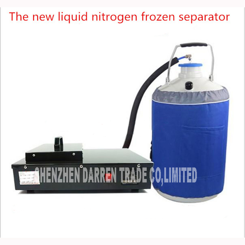 1pc Frozen machine separator FS 06 2 in 1 pack built in oil free pump with 10L of liquid nitrogen tank Power Tool Sets Tools - title=