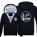 Curry 30 Warriors Hoodies Sweatshirts Zipper Jacket  Winter  Thick Coats