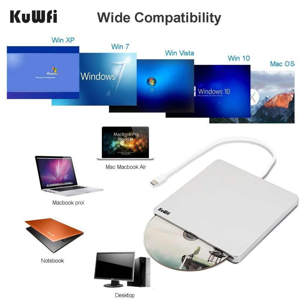 超薄型デザイン外部自動スロットローディングブルーレイ DVD ドライブバーナープレイヤー USB3.0 タイプ C DVD-RW VCD CD RW リーダーのための PC