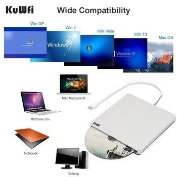 Laptop Con Cd Rom | Design Ultrasottile Esterno Automatico Slot-loading Blu-Ray DVD Drive Burner Player USB3.0 Tipo-C DVD-RW VCD CD RW Lettore Di Schede Per PC