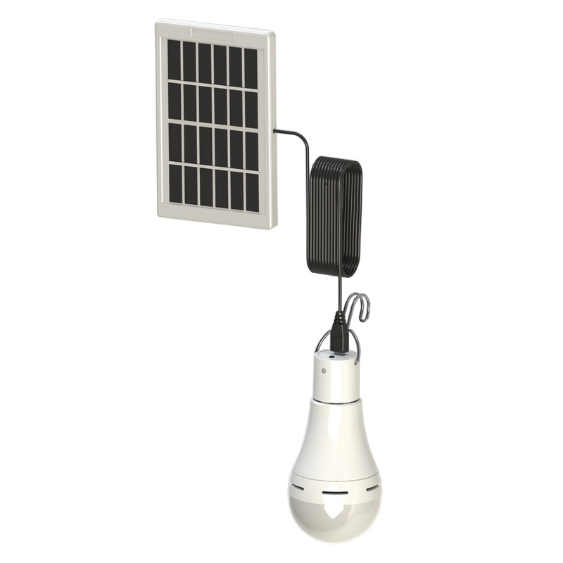 Image 5 - LED Solar Remote Control Light Solar Bulb Lamp Indoor Waterproof Panel Emergency Plastic Bulb Hook Tent Lantern Outdoor-in Solar Lamps from Lights & Lighting