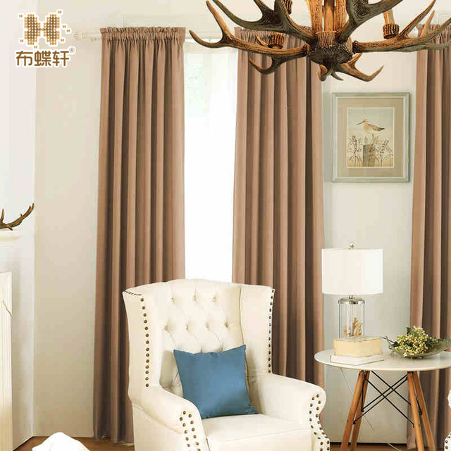 Korean Style Pinkycolor Blue Green Coffee Beige Curtains for Living ...