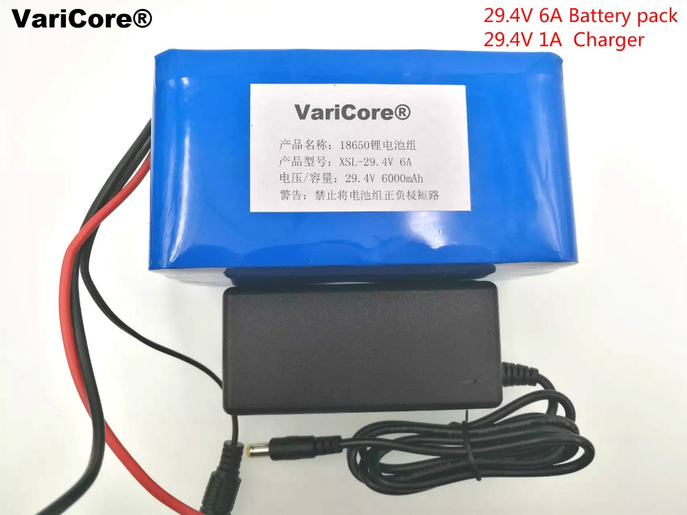 24V 6Ah 7S3P 18650 Battery li-ion battery 29.4v 6000mah electric bicycle moped /electric/lithium ion battery pack+2A Charger 10pcs lot 2s li ion lithium battery 18650 charger protection module board 3a 7 4v 8 4v free shipping