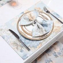 Настольные Коврики для столовой домашней кухни б/у Мадс хлопковый полиэстеровый с цветочным принтом настольные коврики прямоугольной формы