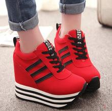 2017 Hot sale New Fashion High Heel Platform Shoes Wedges Single Women's Casual Shoes Sb Ok Mother Shoes Women Shoes  Pumps