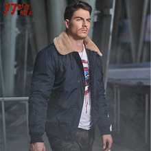 77City Killer 2017 Winter Jacket Men Parka Warm Male Thick Outerwear Turn Down Fur Collar Short Luxury Pocket Overcoat P2528