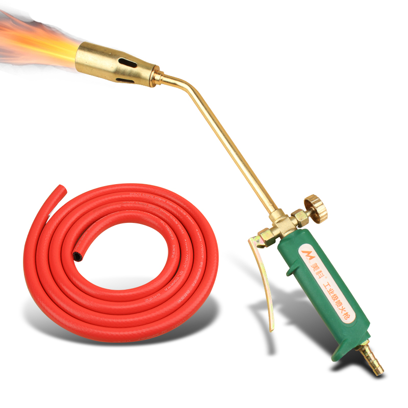 Liquefied Gas Welding Torch Road Pipe Metal Welding Flame Blow Heating Gun Plumber Roofing Ignition Soldering Gas Blowtorch