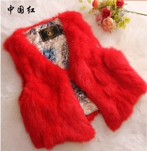 2016 New Rabbit Fur Coat Vest Shorts In Coat. The Hair Autumn Cultivation