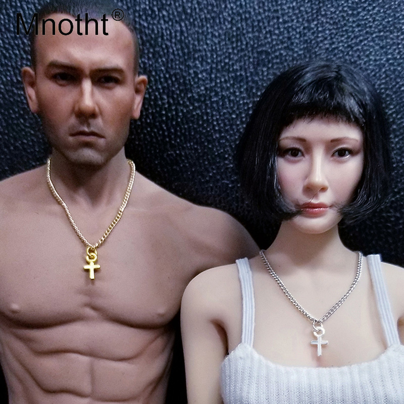 Mnotht 1/6 Scale Soldier Model Necklace Fashion Cross Jewellery Necklace Pendant Model Toys For 12in Action Figure Toys