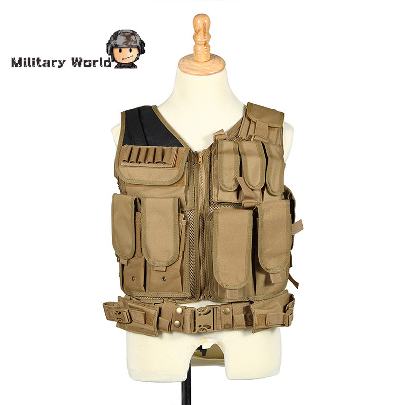 Waterproof Tactical Molle Carrier Vest Military Airsoft Outdoor Training Field Battle Waistcoat CS Training Combat Uniform