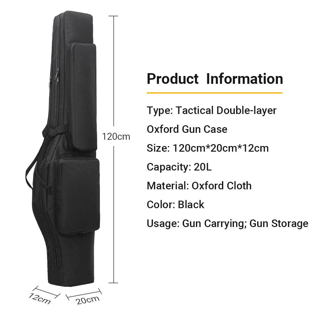 Tactique 120 CM double sac de fusil sac à dos pistolet sac de transport poche Airsoft fusil de chasse rembourré boîtier-étui en plein air militaire sac de chasse - 5