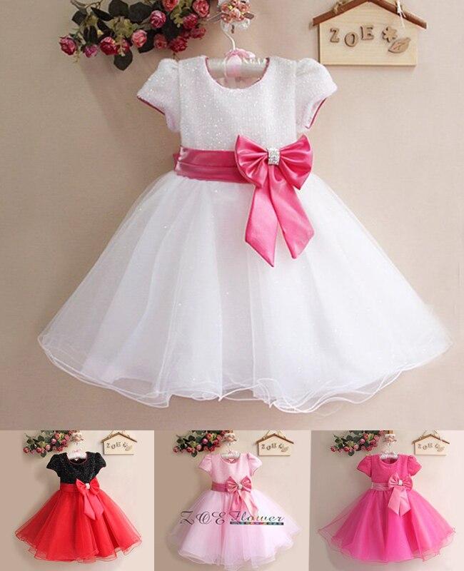 248e9385f Venta al por menor nuevos vestidos de boda y fiesta para niña, caliente  Blanco/rojo con el hermoso vestido de princesa de la niña del arco grande,  ...