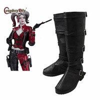 Cosplaydiy Injustice 2 Harley Quinn Cosplay Shoes Harley Quinn Cosplay Boots Women Halloween Costumes Accessories Customized