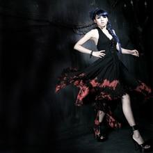 Punk Fashion Casual Evening Women Dress Black Gothic Gorgeous Sexy Ladies Victorian Long Tight Dress