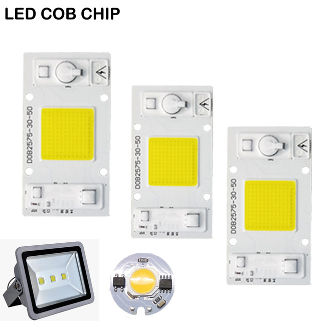 High Power COB LED Lamp Chip 220V Smart IC No Driver COB LED Diode LED Bulb Flood Light Spotlight 3W 5W 7W 9W 20W 30W 50W