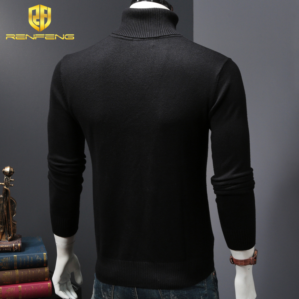mens wool sweaters 2018 turtleneck men winter shirt christmas sweaters dress man clothes knitwear pullover jumper for male (3)