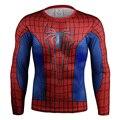 3D Impresso Camisetas Homens Camisa Longa Da Luva T 2016 Spiderman Topos Camisa De Compressão do sexo masculino Dos Homens do Outono E Inverno Longo T camisa