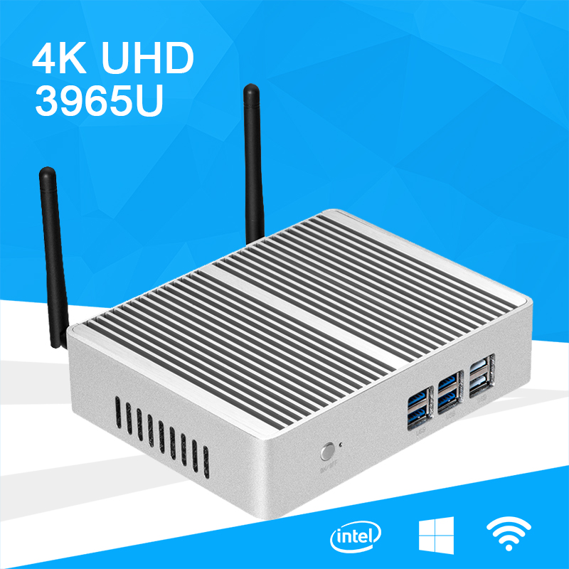 Mini PC Windows 10 4K UHD Intel Celeron 3965U Dual Core 2.20GHz Gigabit LAN Dual Storage mSATA 2.5 inch SSD HDD HDMI VGA WiFi hot sale celeron mini pc desktop computers dual lan mini pc x29 j1800 j1900 2 gigabit lan hdmi vga windows 7 win10 ubuntu