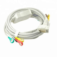 Compatible For Schiller AT1/ AT2 /CS6/ CS100/AT101 ECG EKG Cable with leadwires 10 leads Medical EKG Cable 4.0 Snap End IEC