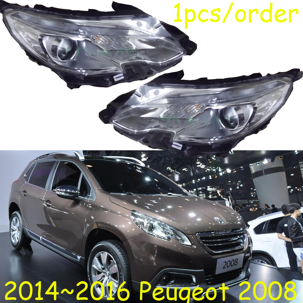 HID,2014~2016,Car Styling for Peugeo 2008 Headlight,insight,206 207 308 3008 408 4008 508 Raid RCZ,Partner,2008 head lamp