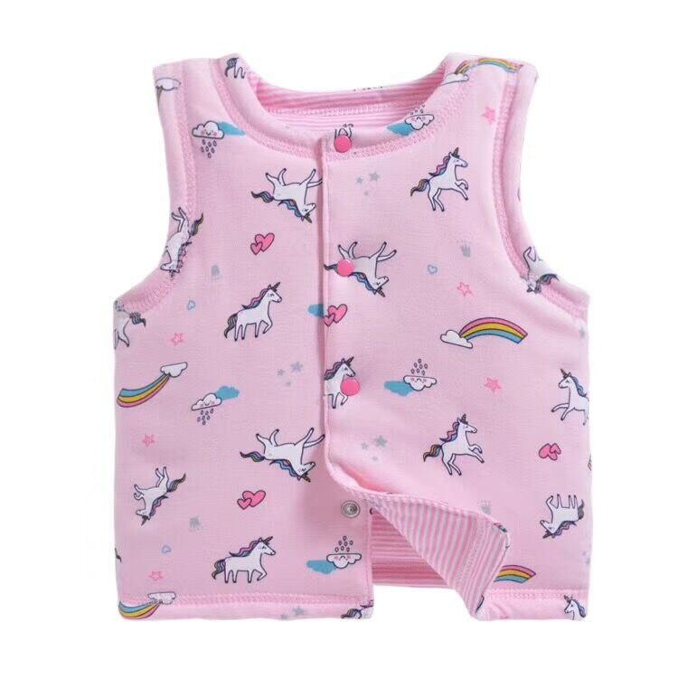 Begeistert Neugeborenen Herbst Winter Weste Baby Junge Mädchen Druck Tragen Weste Kinder Baumwolle Warme Outwear Mantel Kinder Kleidung