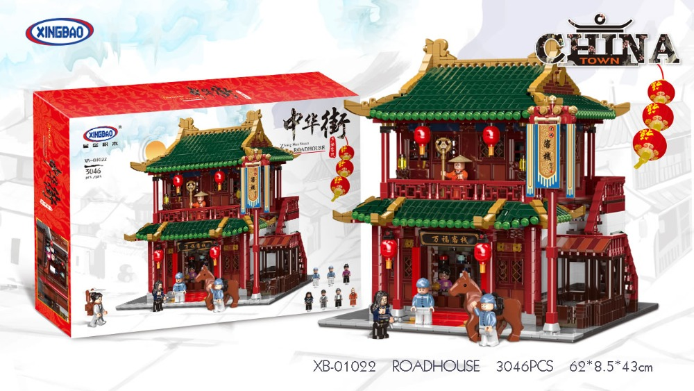 XINGBAO 01022 3046Pcs Chinese Building Series The Wanfu Inn Set Building Blocks Bricks New Kids Toys Birthday Christmas GiftsXINGBAO 01022 3046Pcs Chinese Building Series The Wanfu Inn Set Building Blocks Bricks New Kids Toys Birthday Christmas Gifts