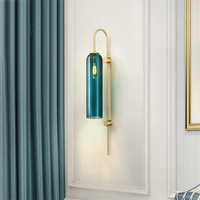 Modern Glass Wall lamp Blackish Green/White Indoor Living Room Bedroom Bedside Wall Lights Porch Sconce Lampe Luminaria