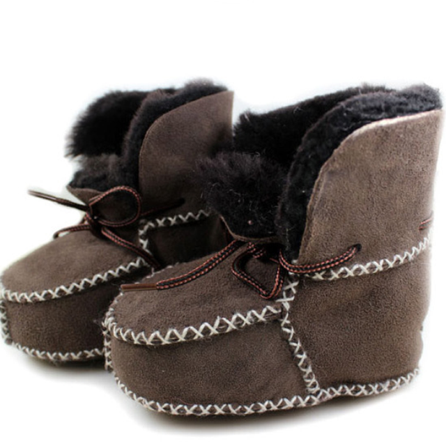 d82310542 Kids Shoes Footwear New Winter Baby Shoes Boots Infant Warm Shoes Fur Wool  Girl Baby Booties Sheepskin Genuine Leather Boy Boots