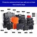Водостойкий защитный чехол инструментальное оборудование чемодан ударопрочный инструмент пластиковый ящик для инструментов с предварите...