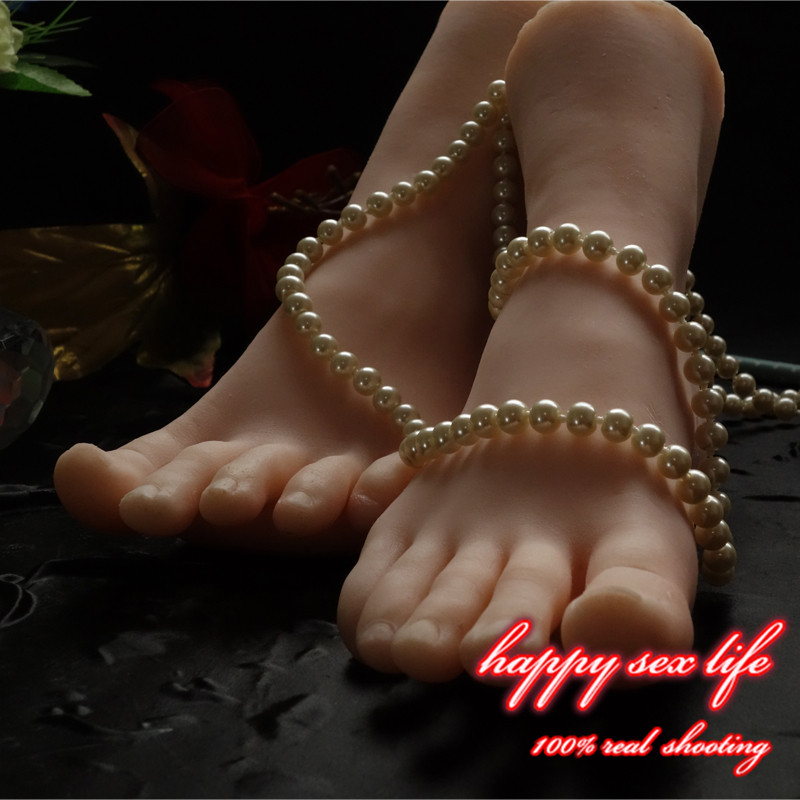 Free drop shipping New Sex Toy,Feet Fetish Toys for Man,Young Girl Lifelike Female Feet, Sex Product ,Feet Model for Sock Show