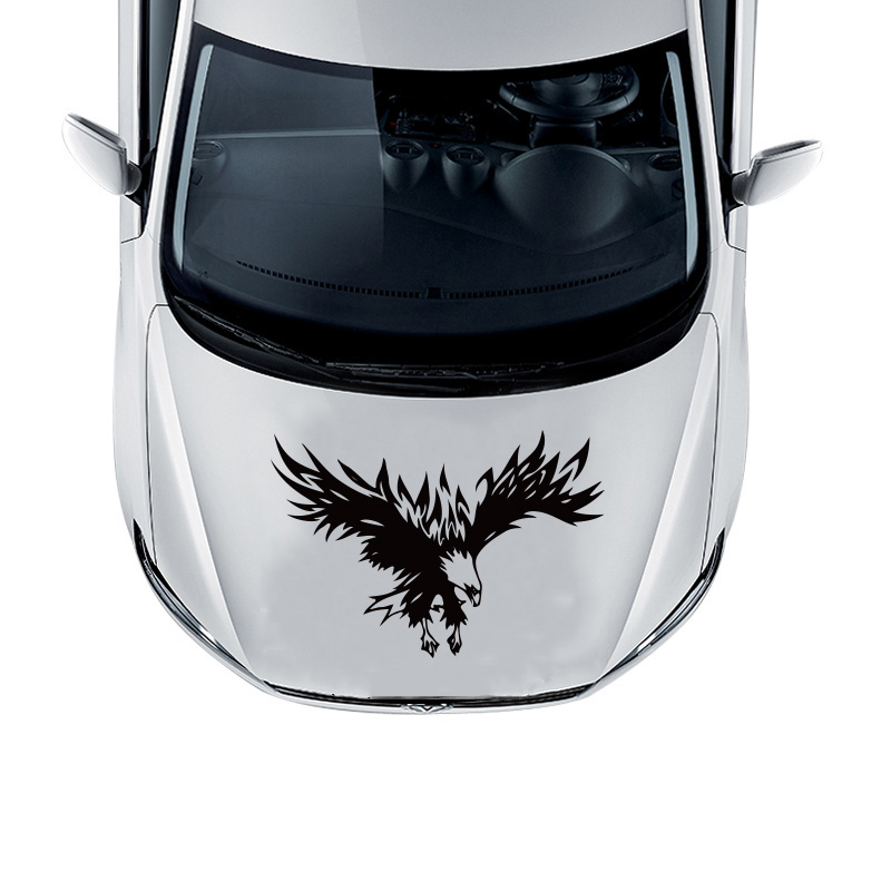 Eagle totem decoration animal car styling sticker on hood head,fashion die cut vinyl decals and labels cover for ford/opel/kia jaguar animal totem