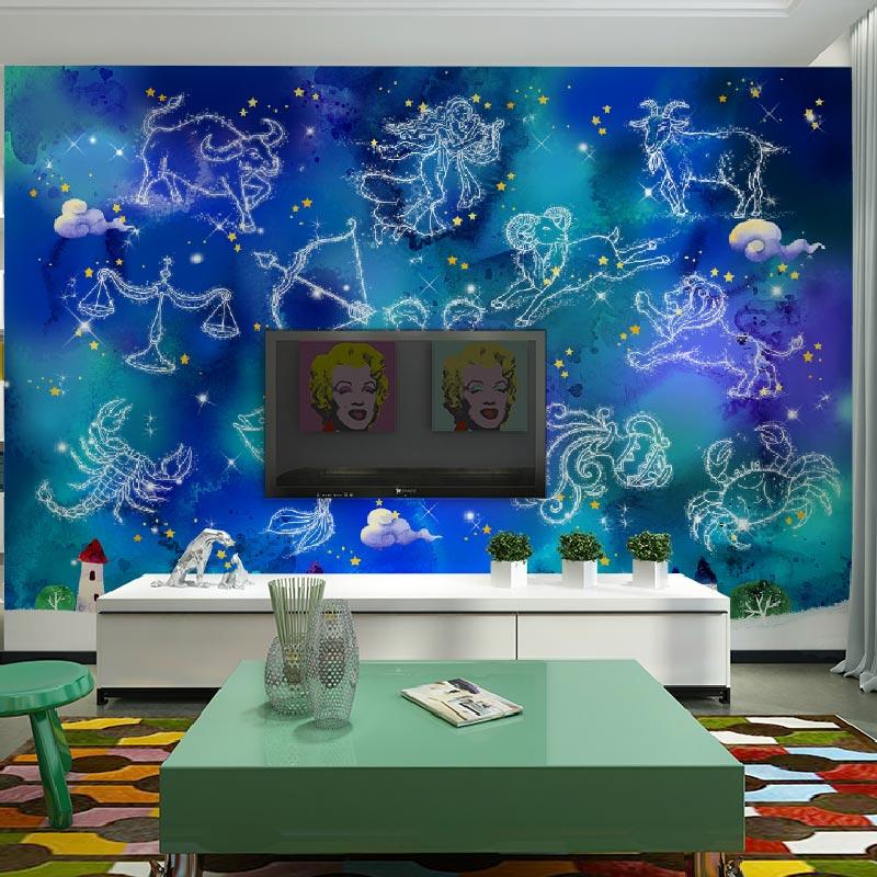 Popular constellation wallpaper buy cheap constellation for Custom mural painting
