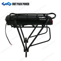 Shipping from Germany 36V 13Ah Rear Rack Electric Bicycle Battery 36V Battery Pack with Samsung Cell + Double Layer Luggage Rack