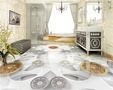beibehang European modern fashion 3D wallpaper floor tile wall stickers PVC picture waterproof self-adhesive papel de parede 3d цена 2017