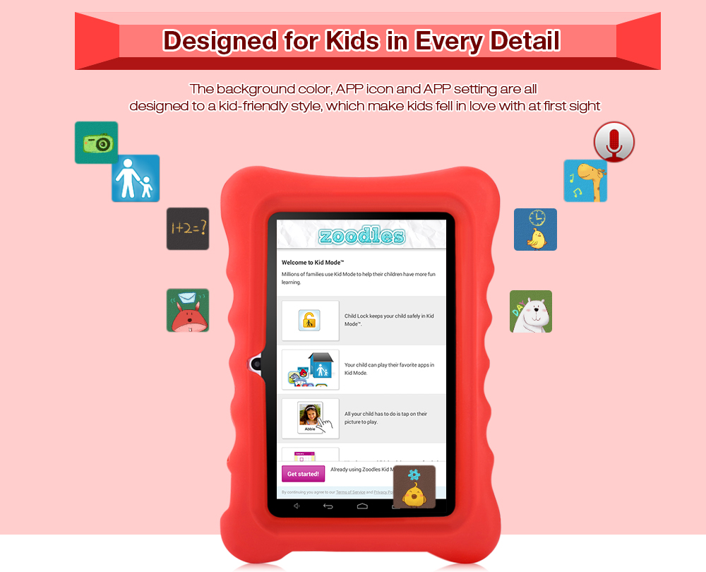 GBtiger L701 Allwinner A33 Android 4 4 7inch Kids Tablet PC