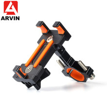 Arvin 360 Degree Rotating MTB Bike Bicycle Cell Phone Holder For iPhone X Aluminium Alloy Motorcycle GPS Handlebar Mount Bracket