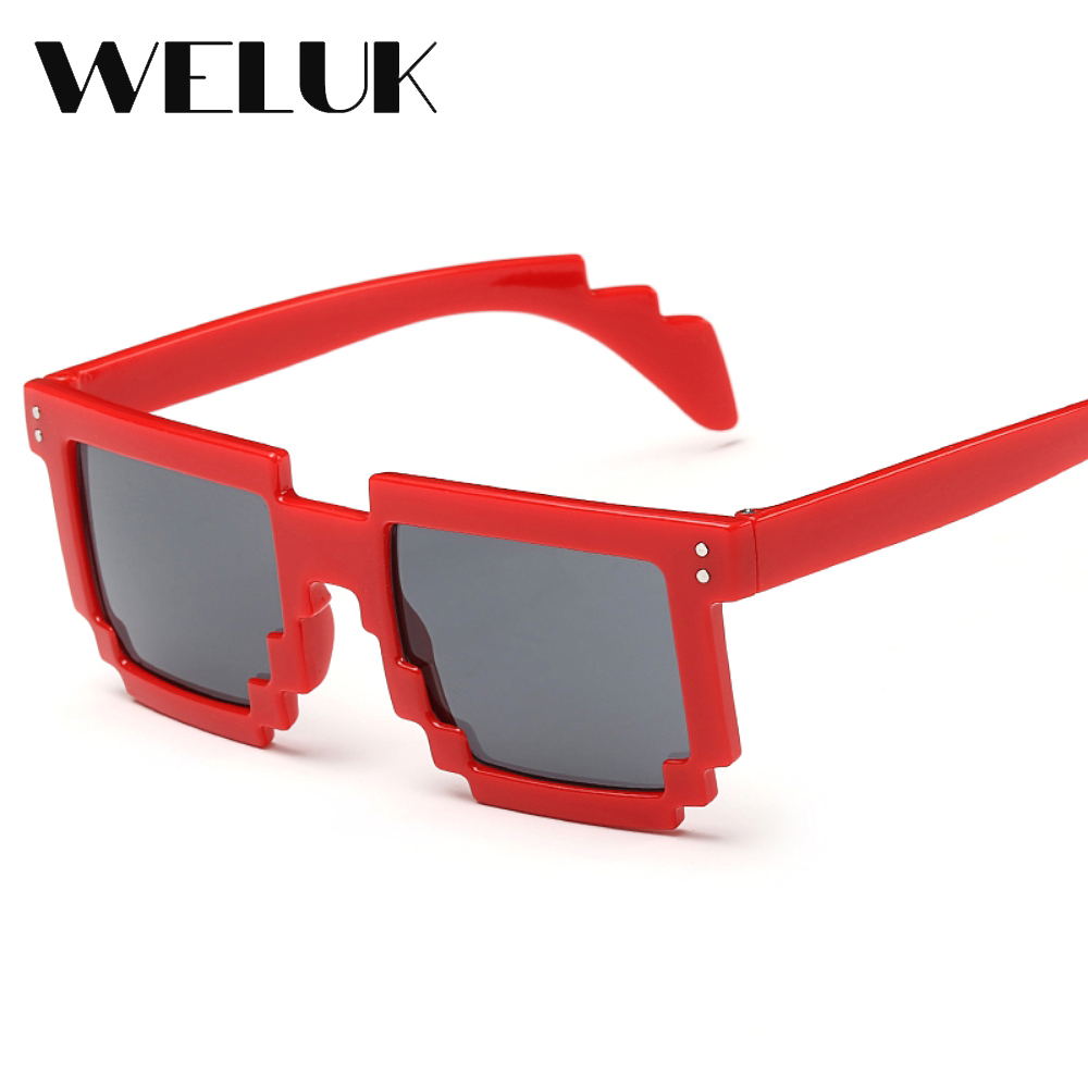 53b5133d9b6c WELUK Multi Color Mosaic Frame Cool Unique Fashion Boys Girls Irregular  Sunglasses Women Outdoor Sport Eyewear Glasses Oculos-in Sunglasses from  Apparel ...