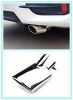 New For Toyota C HR CHR 2016 2017 Stainless Steel Rear Tail Exhaust Muffler Pipe Cover