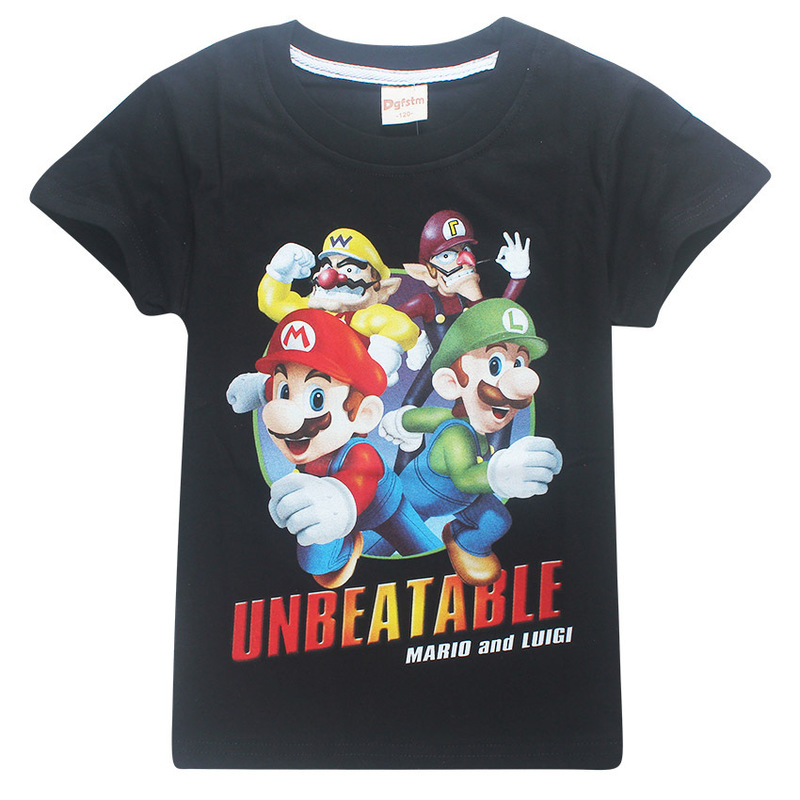 2018 Boy and Girl THE Super mario Fashion T-shirt Children Short sleeves spiderman T Shirt Kids Tops Tee Baby spider man Clothes недорго, оригинальная цена