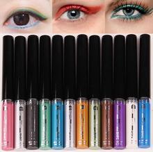 Women Maquillage New Waterproof Metallic Luster Liquid Eyeliner Eye Liner Pencil Makeup Cosmetics EyeLiner Combination Beauty