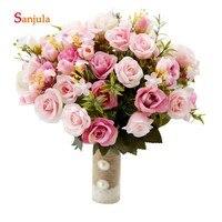 Bride Flower Bouquet Wedding Accessories 2019 Artificial Flowers Bridal Wedding Bouquet Bridesmaid Hand Flowers brautstraussWB33