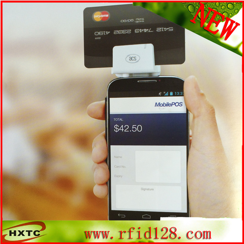 3.5mm audio jack mobile MagStripe smart chip card reader android--ACR32
