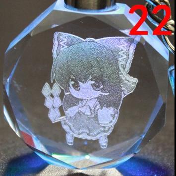 Брелок светодиодный кристалл Touhou Project 4