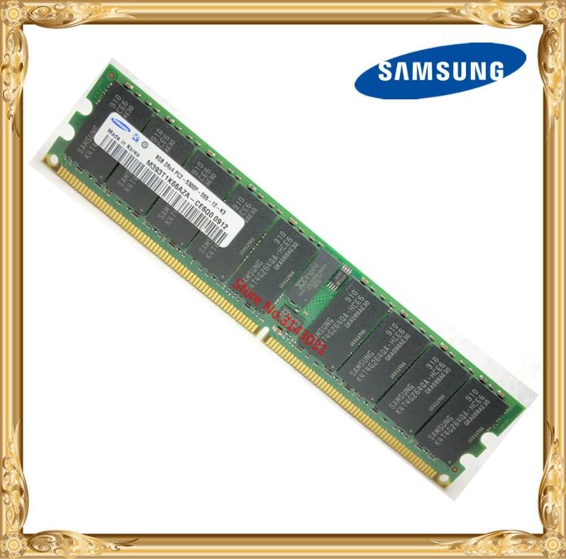 Samsung Serveur mémoire 8 GB DDR2 2Rx4 REG ECC RAM 667 MHz PC2-5300P 667 8G Enregistré
