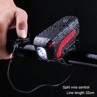 USB 充電自転車ライト Bycicle LED ランプ電気ホーンサイクリングヘッドライトハンドル懐中電灯 Bicicleta 自転車ライト